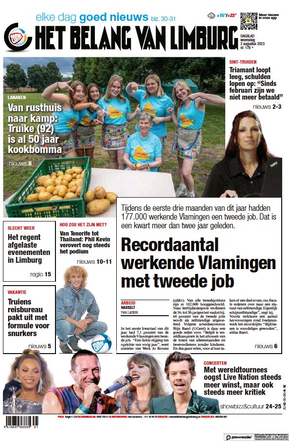 Read full digital edition of Het Belang Van Limburg newspaper from Belgium