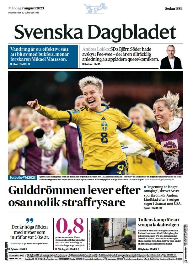 Read full digital edition of Svenska Dagbladet newspaper from Sweden