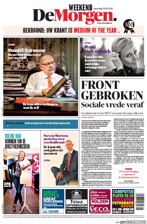 Read full digital edition of De Morgen newspaper from Belgium