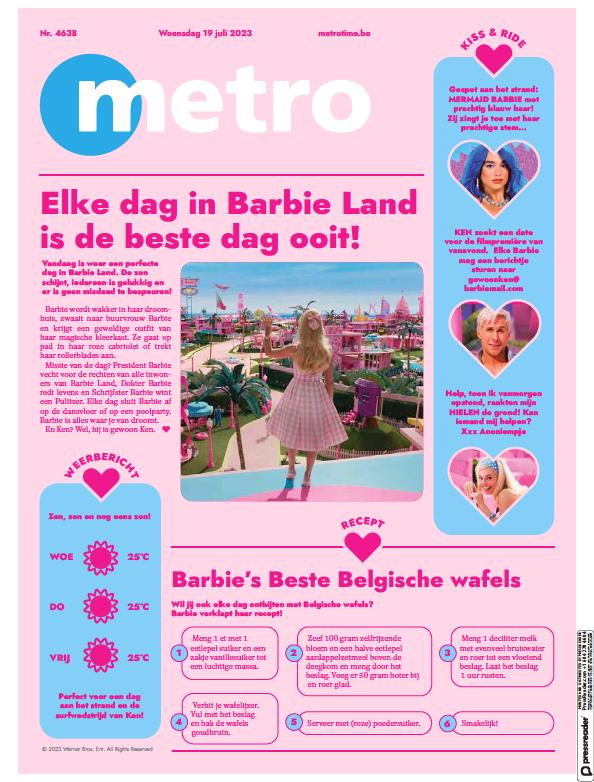 Read full digital edition of Metro (Dutch Edition) newspaper from Belgium