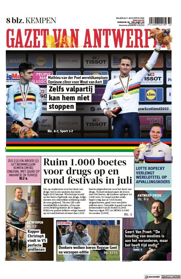 Read full digital edition of Gazet Van Antwerpen Kempen newspaper from Belgium