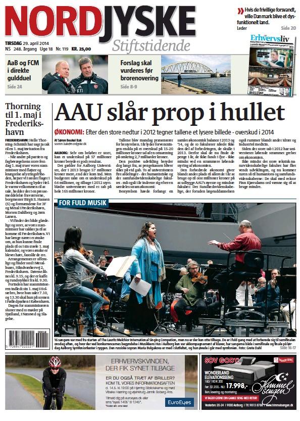 Read full digital edition of Nordjyske Stiftstidende newspaper from Denmark