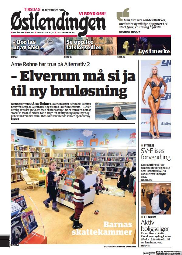 Read full digital edition of Ostlendingen newspaper from Norway
