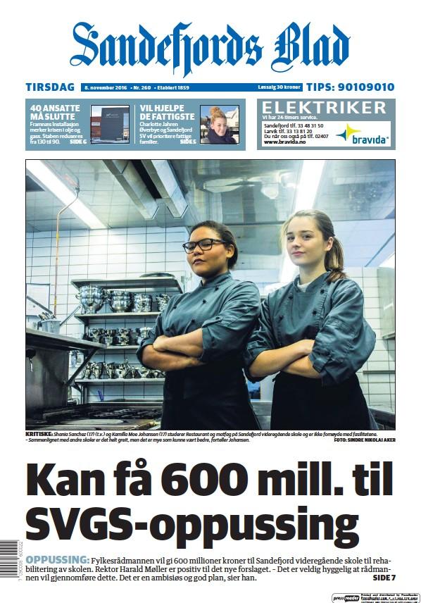Read full digital edition of Sandefjords Blad newspaper from Norway