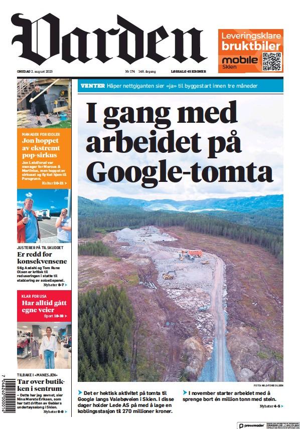 Read full digital edition of Varden newspaper from Norway
