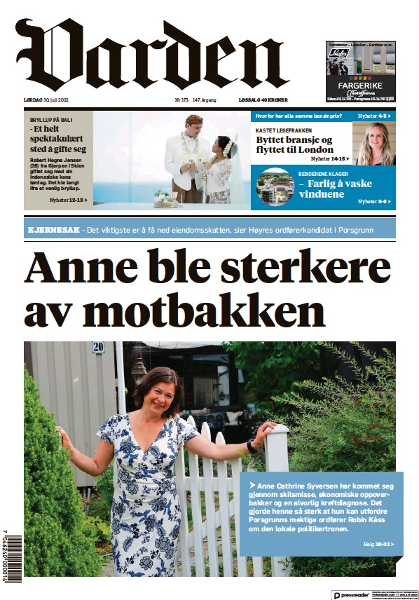 Read full digital edition of Varden newspaper from Norway