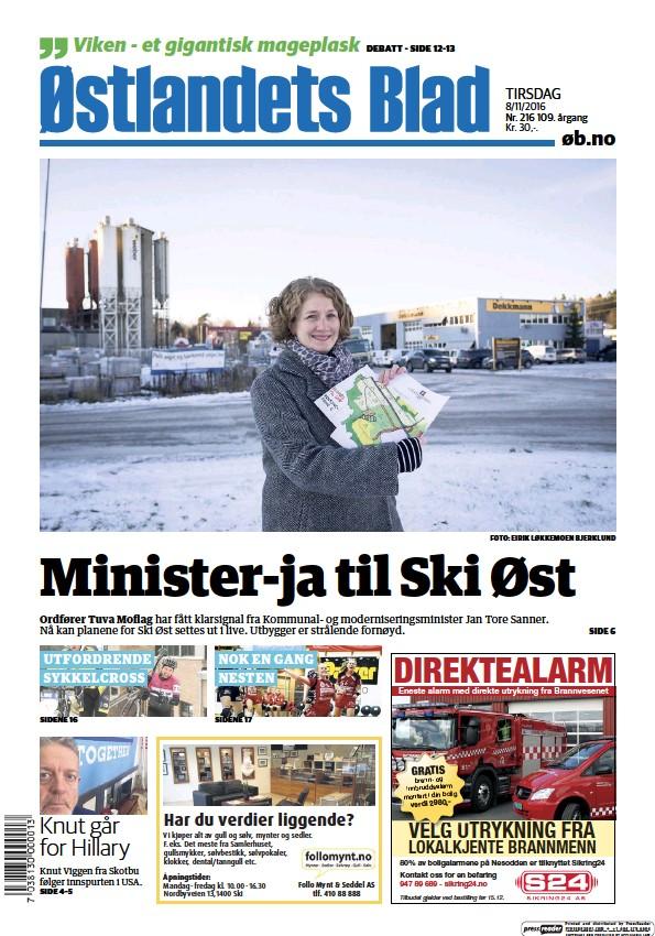 Read full digital edition of Ostlandets Blad newspaper from Norway