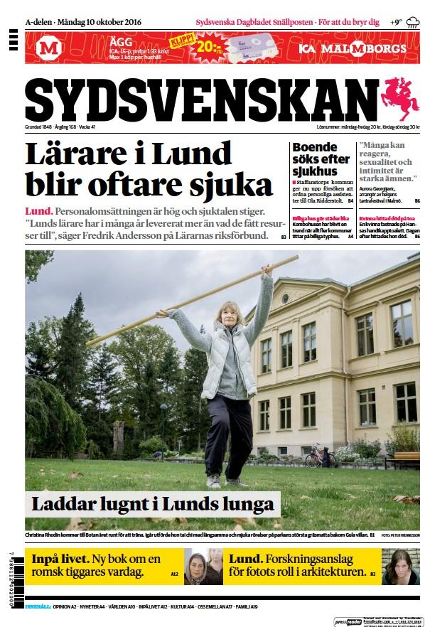 Read full digital edition of Sydsvenskan newspaper from Sweden