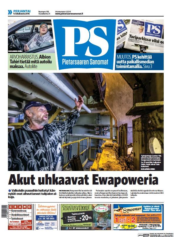 Read full digital edition of Pietarsaaren Sanomat newspaper from Finland