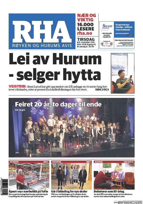 Read full digital edition of Royken og Hurums Avis newspaper from Norway