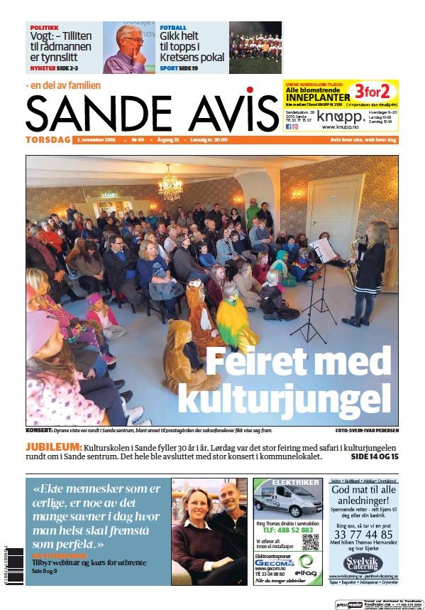 Read full digital edition of Sande Avis newspaper from Norway