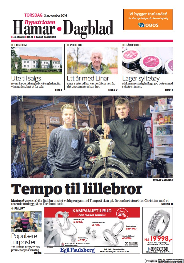 Read full digital edition of Hamar Dagblad newspaper from Norway