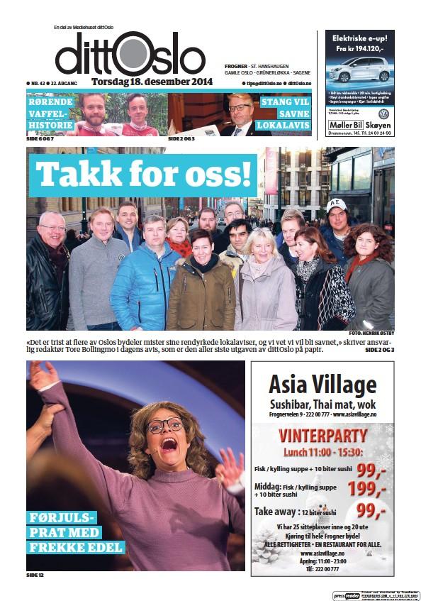 Read full digital edition of Lokalavisen Frogner newspaper from Norway