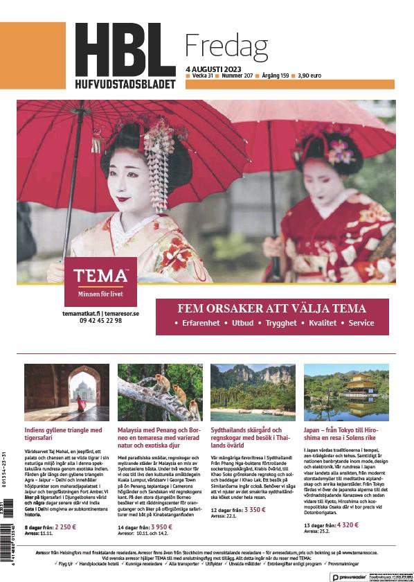 Read full digital edition of Hufvudstadsbladet newspaper from Finland