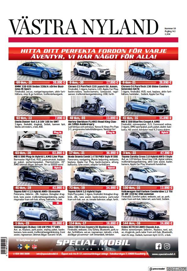 Read full digital edition of Vastra Nyland newspaper from Finland