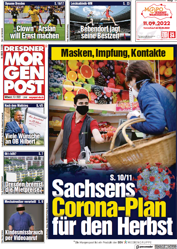 Read full digital edition of Dresdner Morgenpost newspaper from Germany