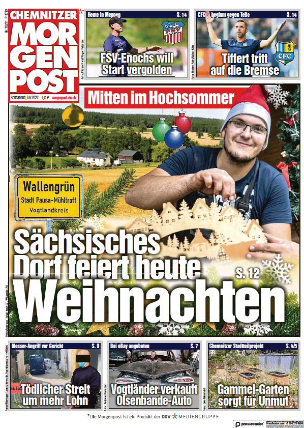 Read full digital edition of Chemnitzer Morgenpost newspaper from Germany