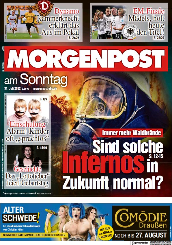 Read full digital edition of Morgenpost am Sonntag (Dresdner) newspaper from Germany