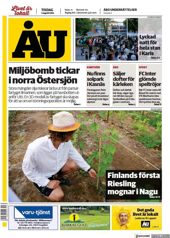 Read full digital edition of Abo Underrattelser newspaper from Finland