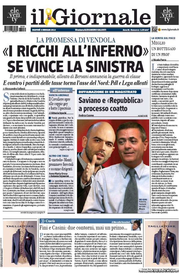Read full digital edition of Il Giornale newspaper from Italy