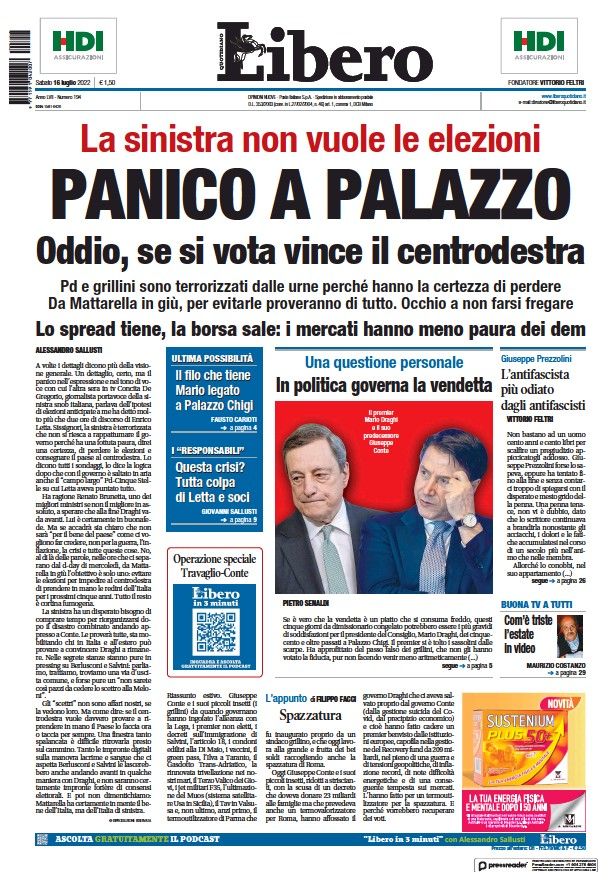 Read full digital edition of Libero newspaper from Italy