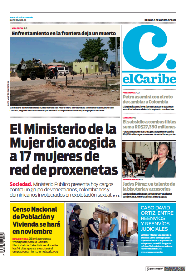 Read full digital edition of El Caribe newspaper from Dominican Republic