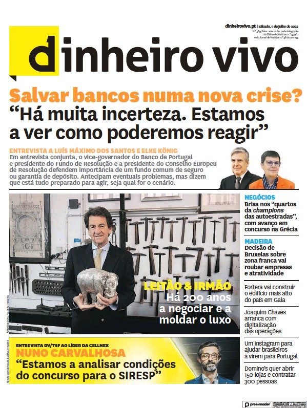Read full digital edition of Dinheiro Vivo newspaper from Portugal