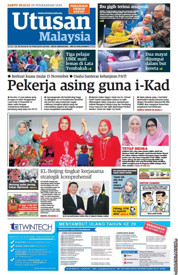 Read full digital edition of Utusan Malaysia newspaper from Malaysia
