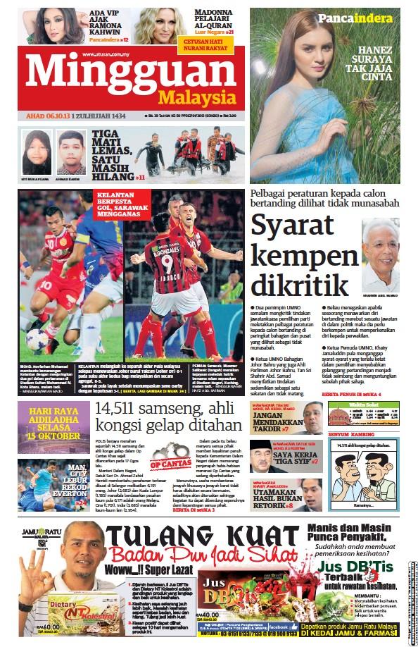 Read full digital edition of Mingguan Malaysia newspaper from Malaysia