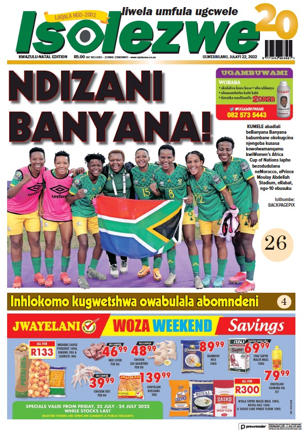 Read full digital edition of Isolezwe newspaper from South Africa