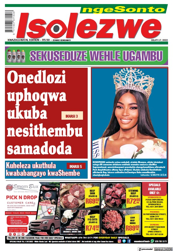 Read full digital edition of Isolezwe Sunday newspaper from South Africa