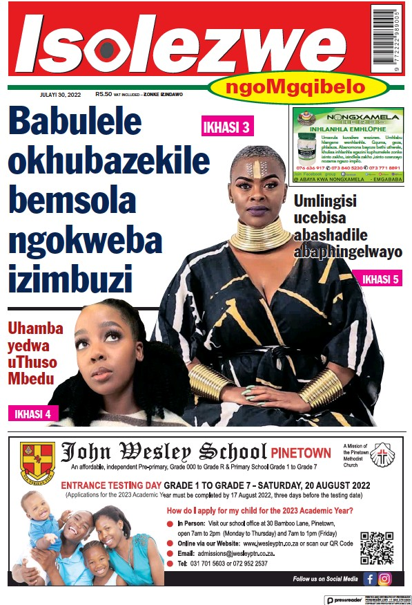 Read full digital edition of Isolezwe Saturday newspaper from South Africa