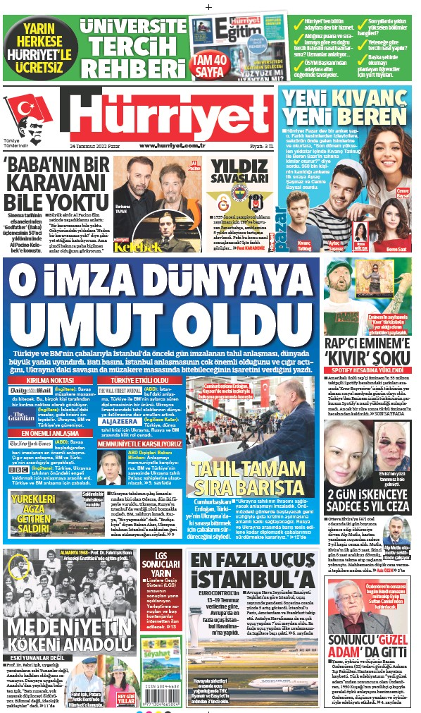 Read full digital edition of Hurriyet Print Edition newspaper from Turkey