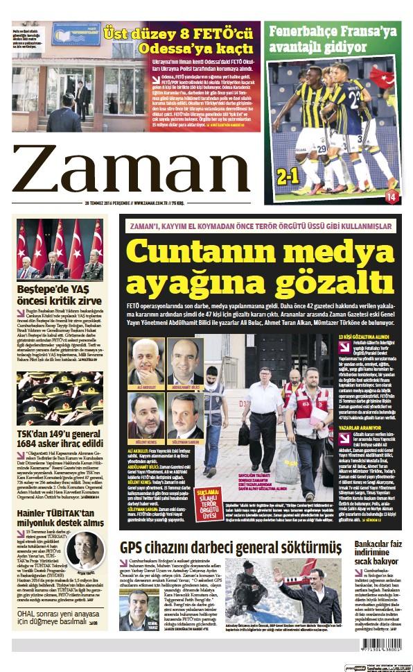 Read full digital edition of Zaman newspaper from Turkey