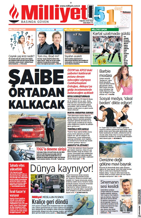 Read full digital edition of Milliyet newspaper from Turkey