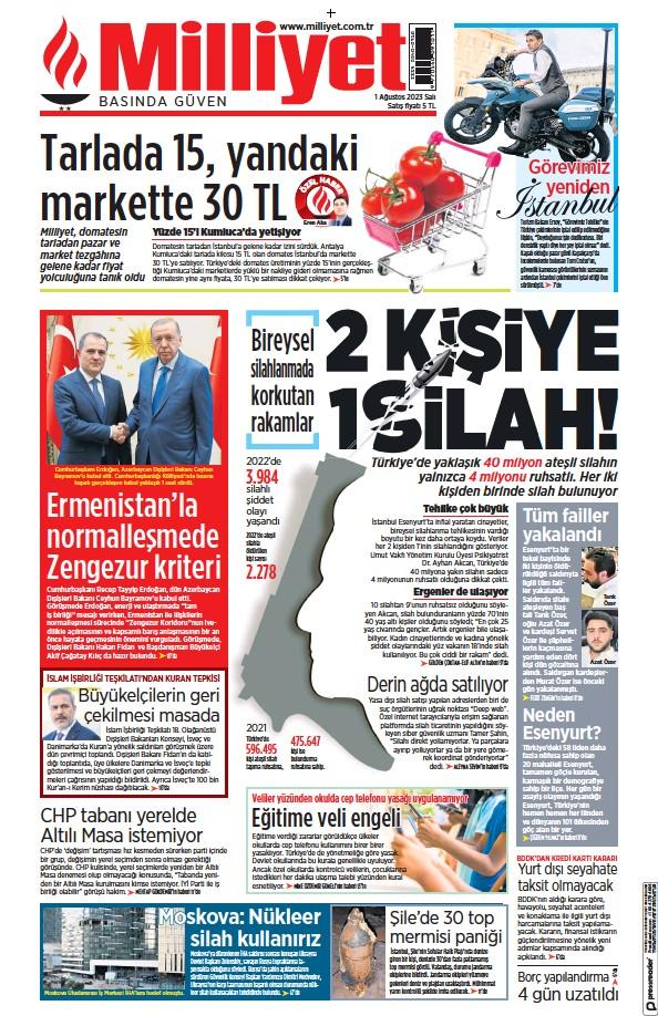 Read full digital edition of Milliyet newspaper from Turkey