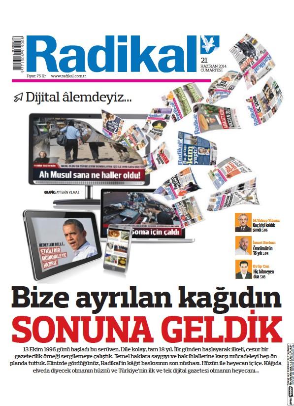 Read full digital edition of Radikal newspaper from Turkey