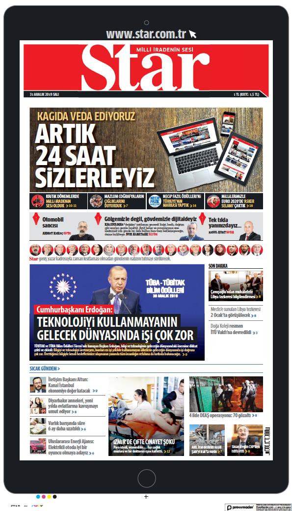 Read full digital edition of The Star (Turkey) newspaper from Turkey