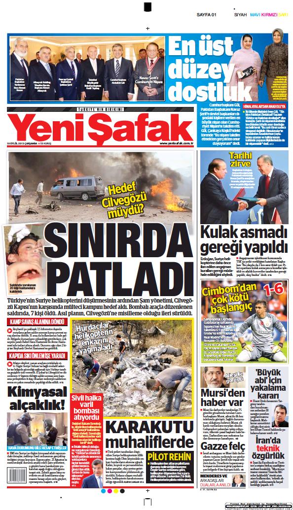 Read full digital edition of Yeni Safak newspaper from Turkey