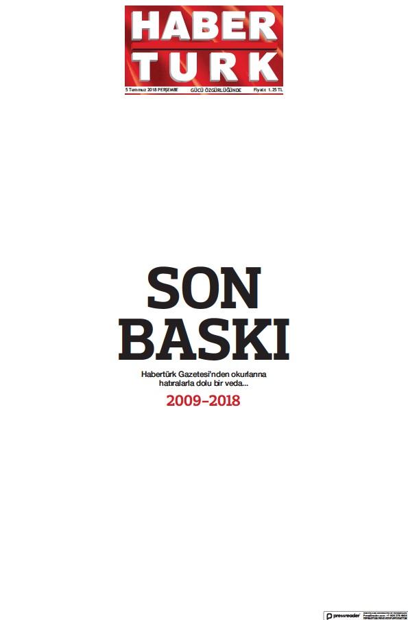 Read full digital edition of Haberturk Main newspaper from Turkey