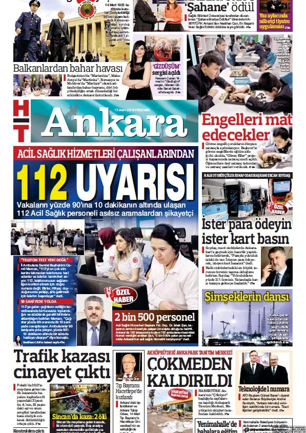 Read full digital edition of HT Ankara newspaper from Turkey