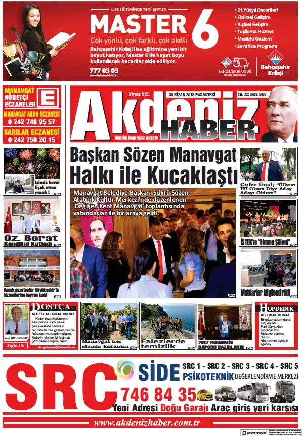 Read full digital edition of Akdeniz Haber newspaper from Turkey