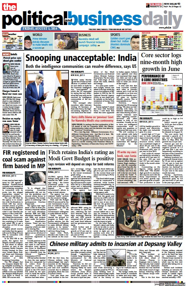 Read full digital edition of The Political and Business Daily newspaper from India