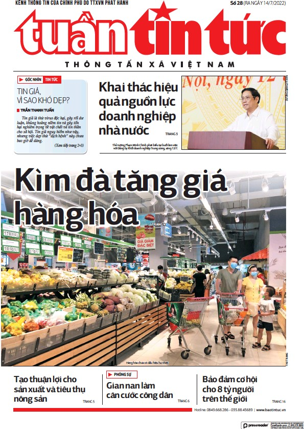 Read full digital edition of Tin Tuc newspaper from Vietnam