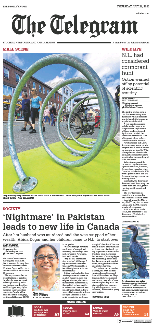 Read full digital edition of The Telegram (St. John's) newspaper from Canada