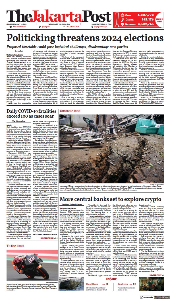 Read full digital edition of The Jakarta Post newspaper from Indonesia
