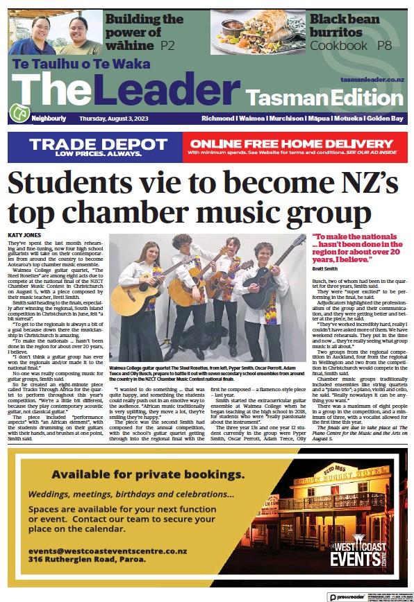 Read full digital edition of The Leader Richmond-Waimea newspaper from New Zealand