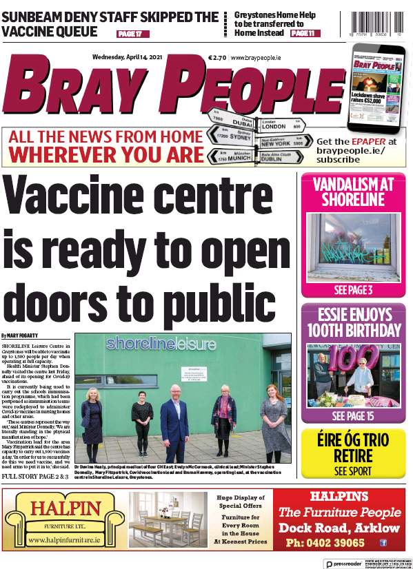 Read full digital edition of Bray People newspaper from Ireland