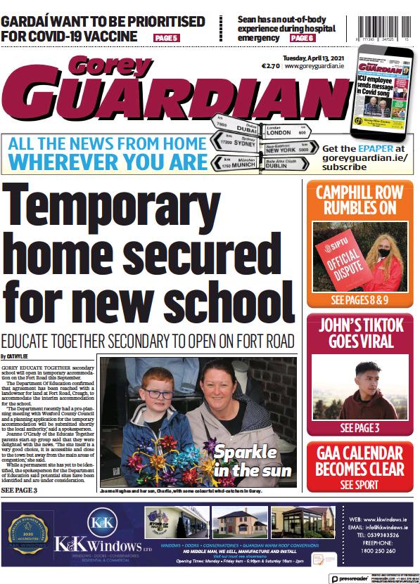 Read full digital edition of Gorey Guardian newspaper from Ireland