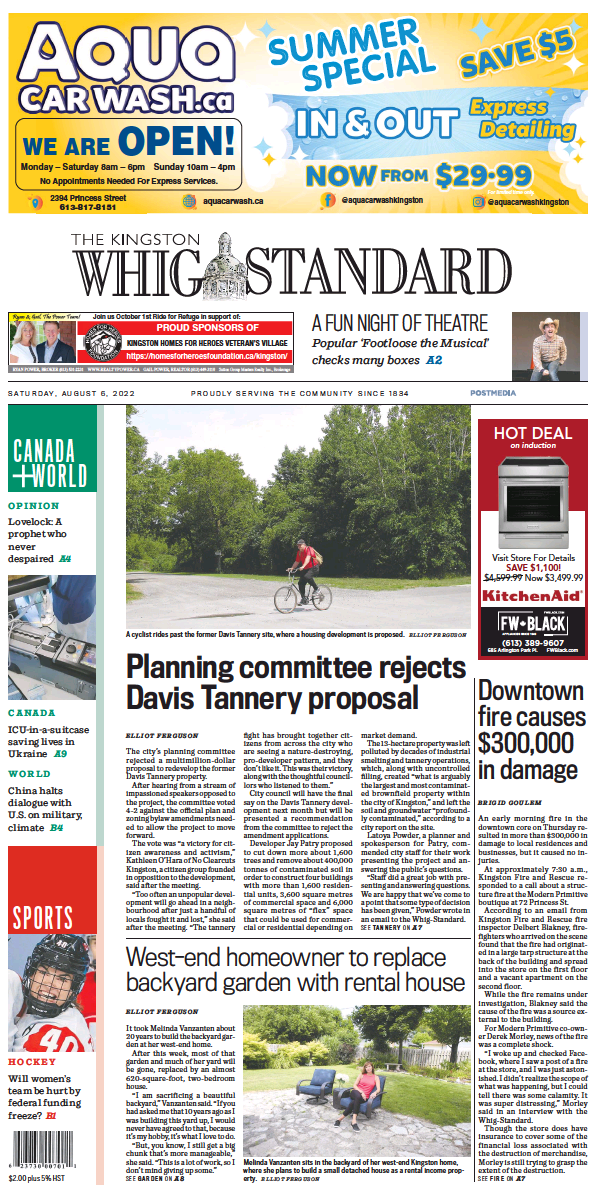 Read full digital edition of Kingston Whig-Standard newspaper from Canada